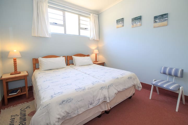 Comfortable twin beds in the downstairs  1 bedroom units