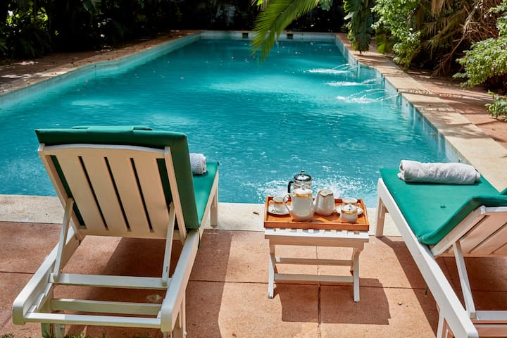 Change into your swimming costume and enjoy our pool.