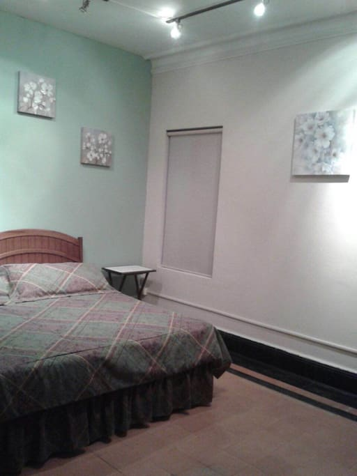 This bedroom has a mini split cooling system.