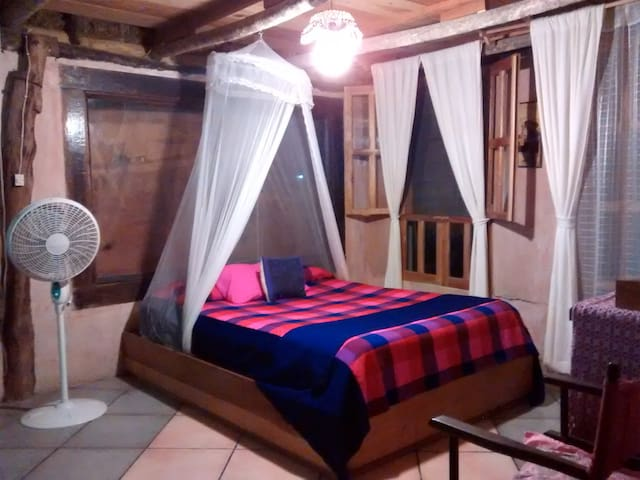 Casitas Kinsol Guest House in Puerto Morelos - near Cancun - Room #4 - Double sized bed