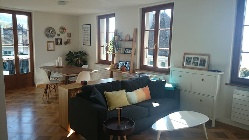 Spacious room in lakeview Apartment - Lutry - Daire