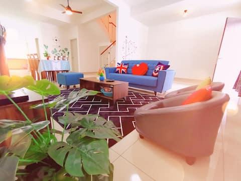 Desaru Beach @Miao1n Cozy House (Wifi+BBQ+Games)