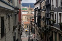 vista de la llegada a casa, iglesia San Antón