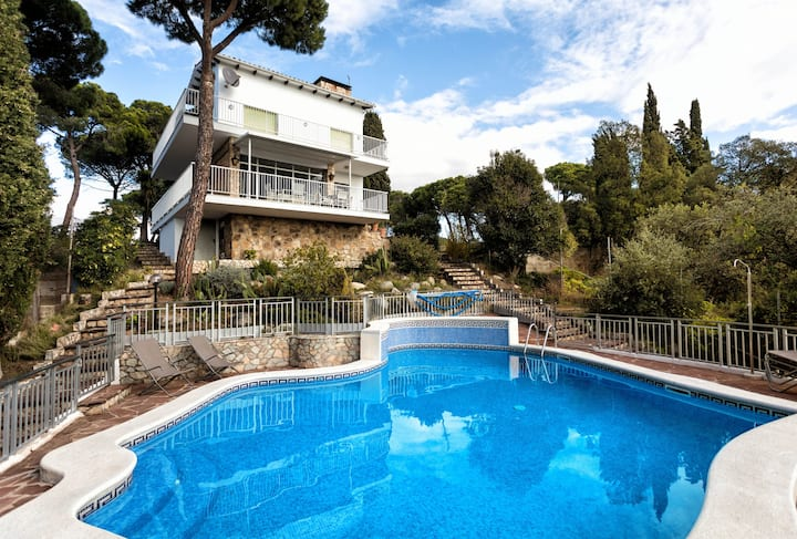 Villa Carlotta 5km to Blanes,  at Mas-Mora