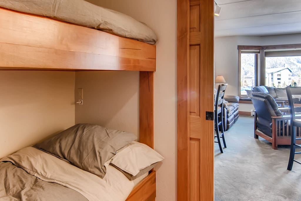Bunk Room with closing door