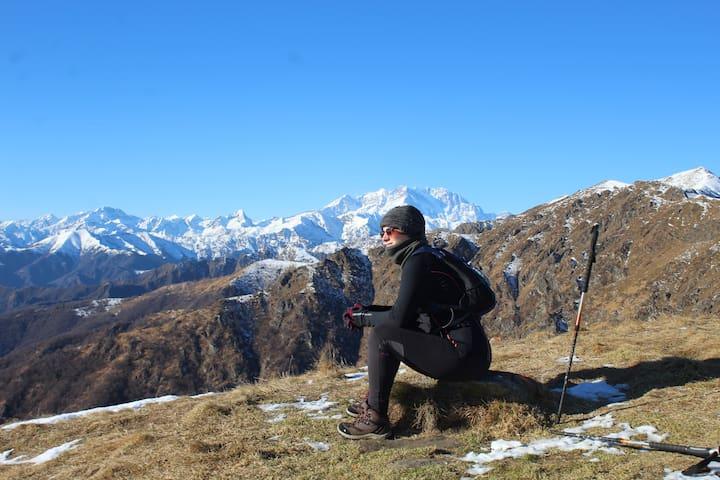 Il Monte Rosa dal Monte Croce
