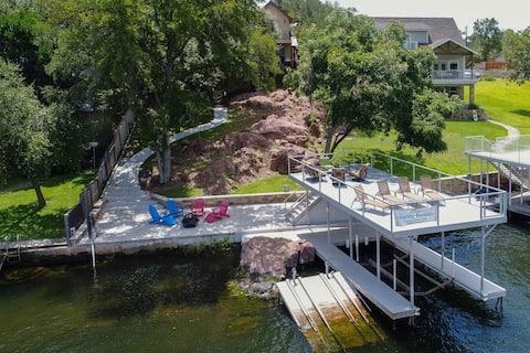 Lakefront home w/ entertainment, dock & lake views - dogs OK!