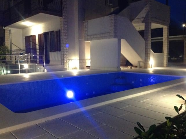 Pool during the night.
