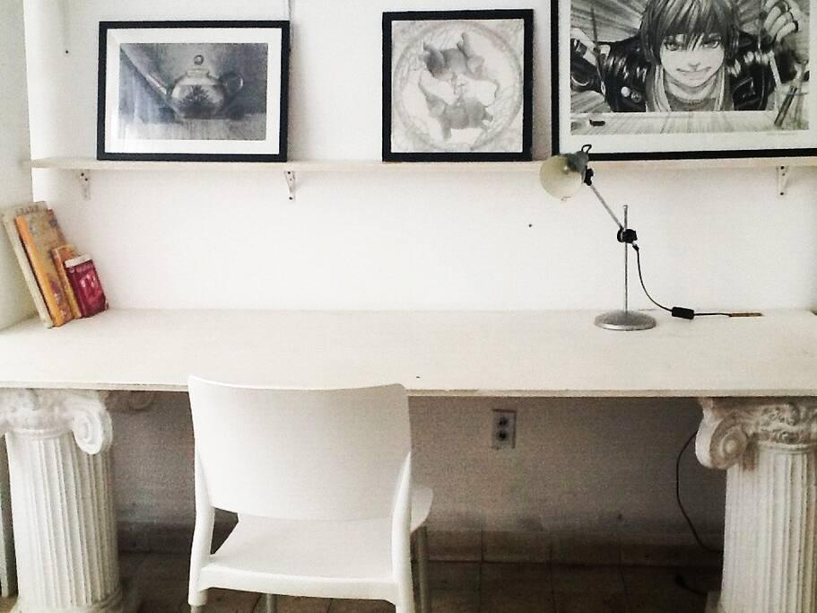 lindo espacio de trabajo en tu habitación!