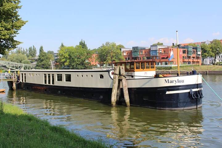 Beautifull boat near Amsterdam/Zaandam