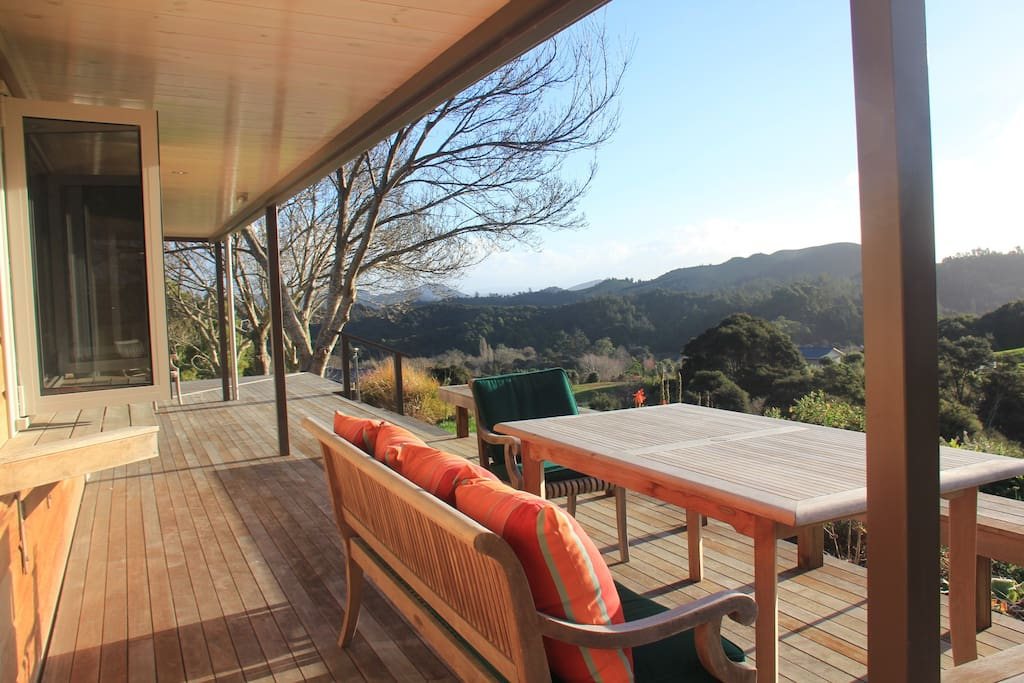 View from deck to hills