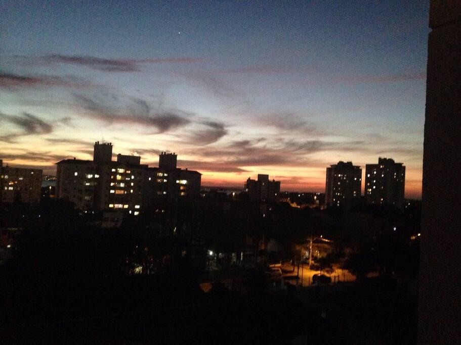 vista do apartamento fim de tarde