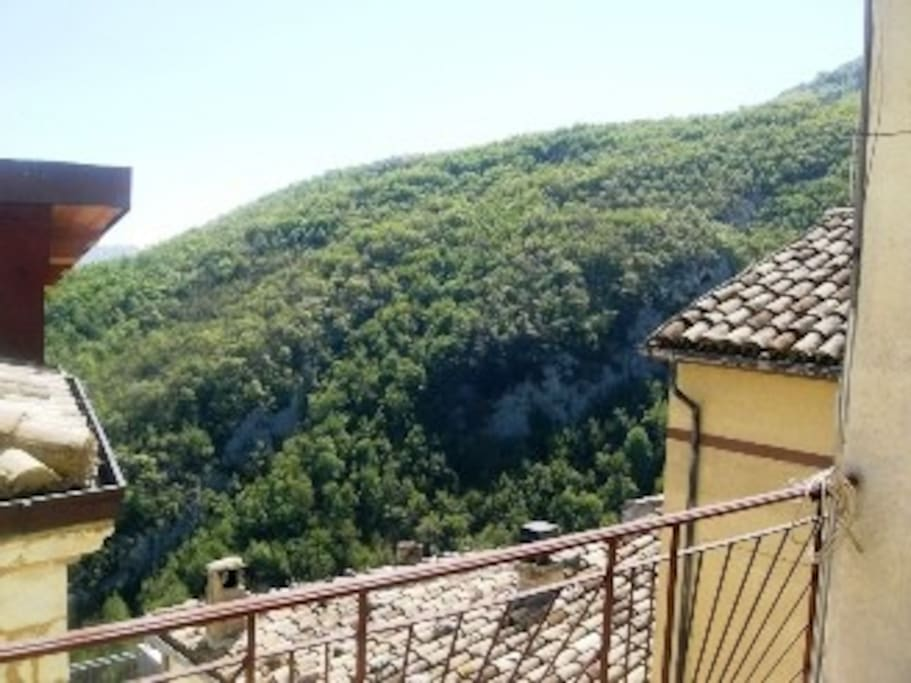 View from the terrace, to the mountain