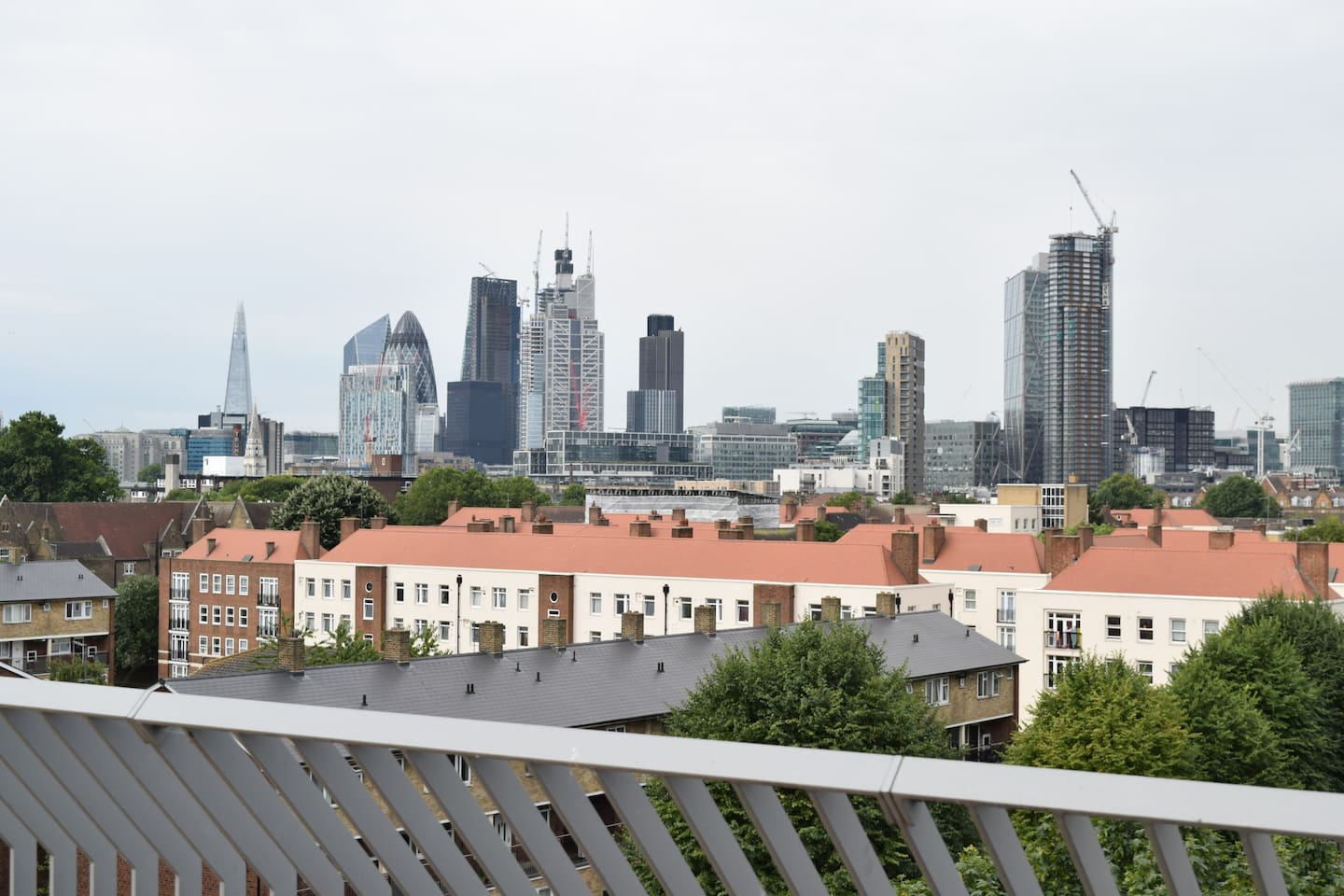 View over The City from the roof terrace