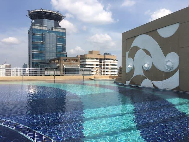 City view, pool, close to terminal 21 condo - Bangkok - Apartment