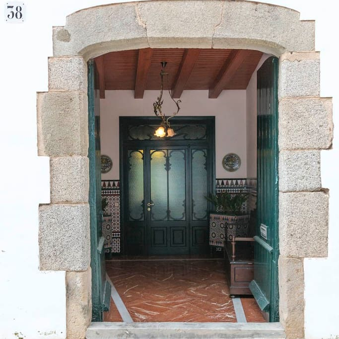 Entrance to the house