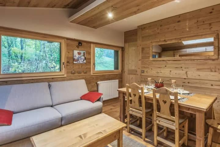 welcoming apartment with swimming pools near the Megève ski slopes