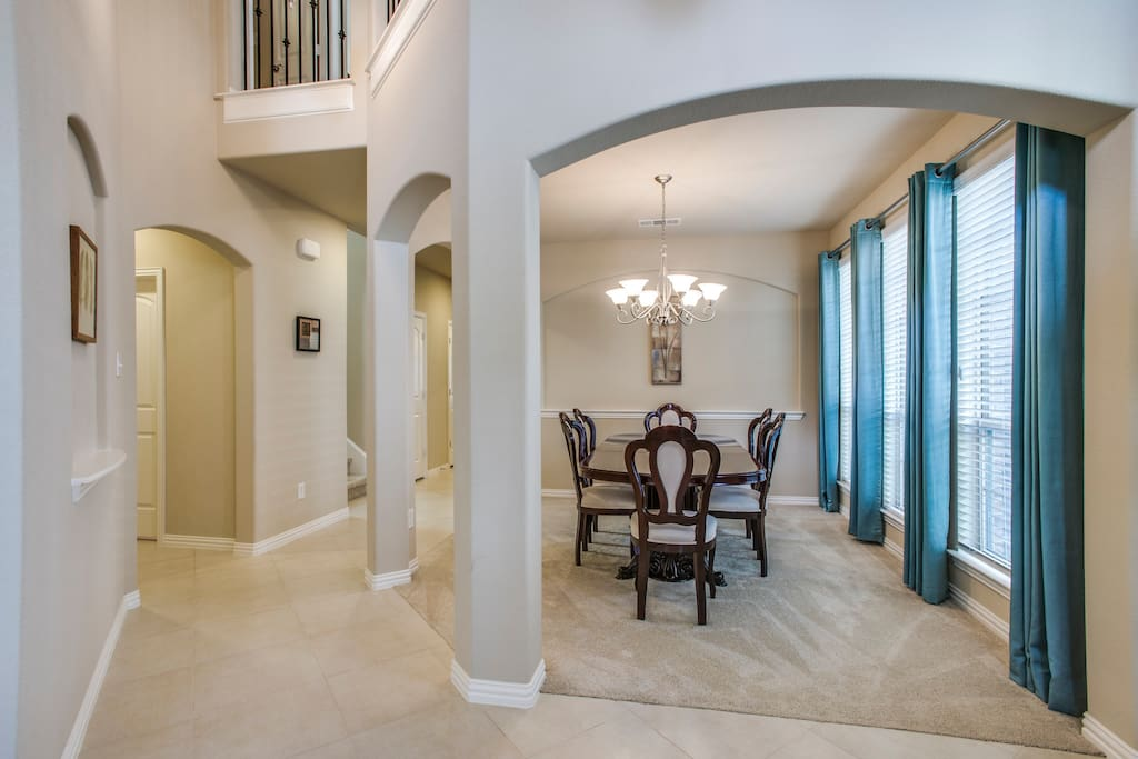 Entry way and dining