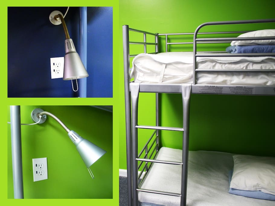 Every bed has its own reading light, electrical outlet and privacy curtain
