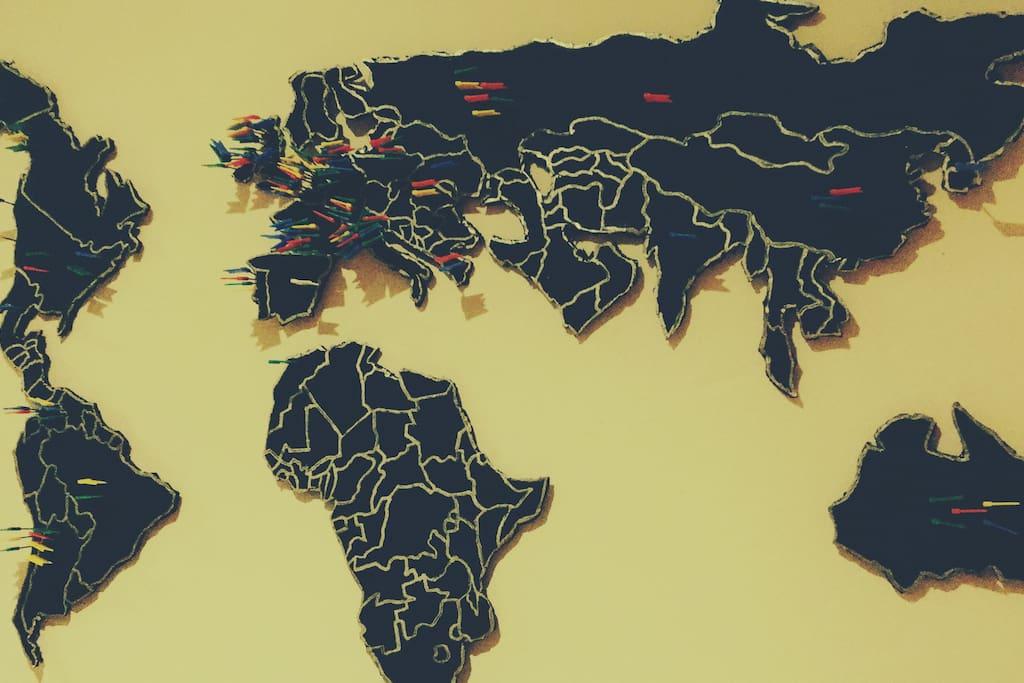 Actualmente todas las visitas que hemos tenido de diferentes partes del mundo.