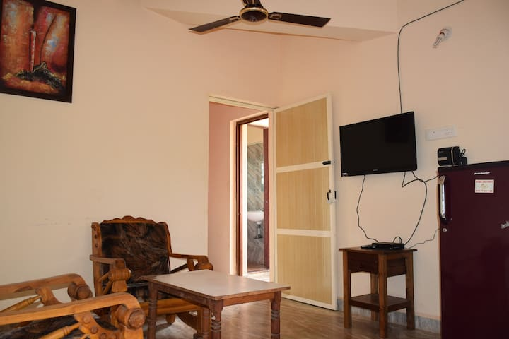 Cozy Deluxe Beach Apartment near Morjim beach Goa