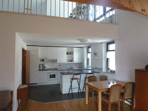 Beautiful air-conditioned gallery apartment 84sqm in the countryside