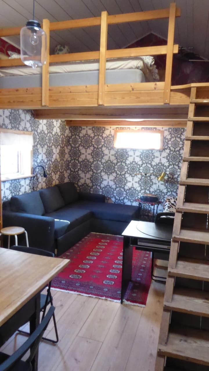 Lägenhet inrymd i gammal byggnad