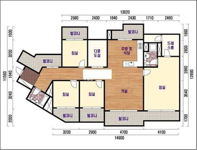 저녁 7시부터 다음날 8시까지만 가능한 방 - Hyeonsin 3-gil, Pyeongtaek - Apartament