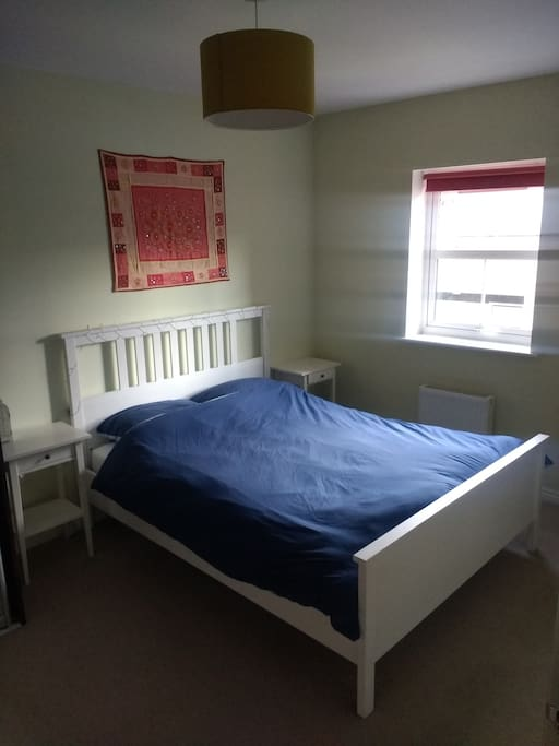 Ikea bed with comfortable mattress