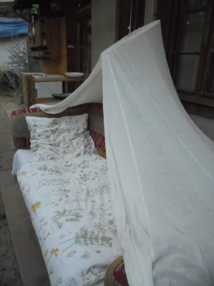 gemütliche Couch unterm Sternenhimmel