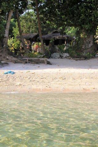 Coconut Cabin from the sea