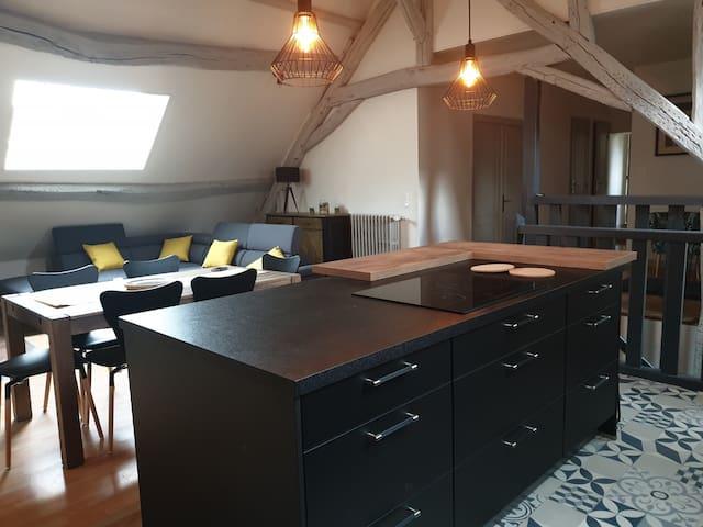 Entre Chambord et Blois Spacieux Appartement