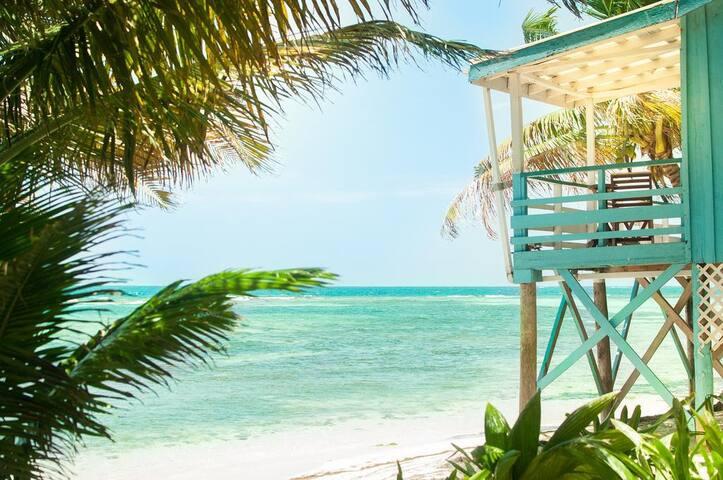 PRIVATE ISLAND cabana off coast of Placencia- RanC