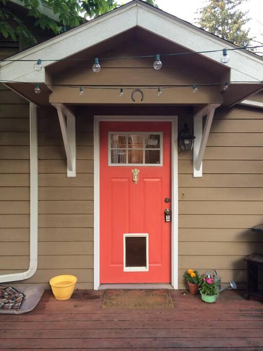 Back door from the deck