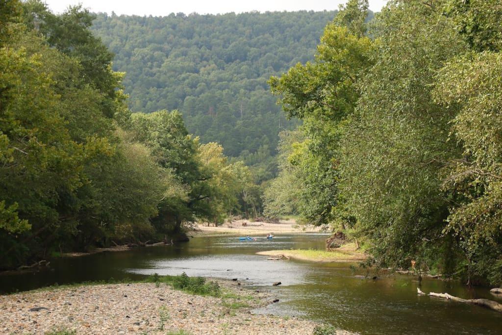 Short walk to Caddo River access.