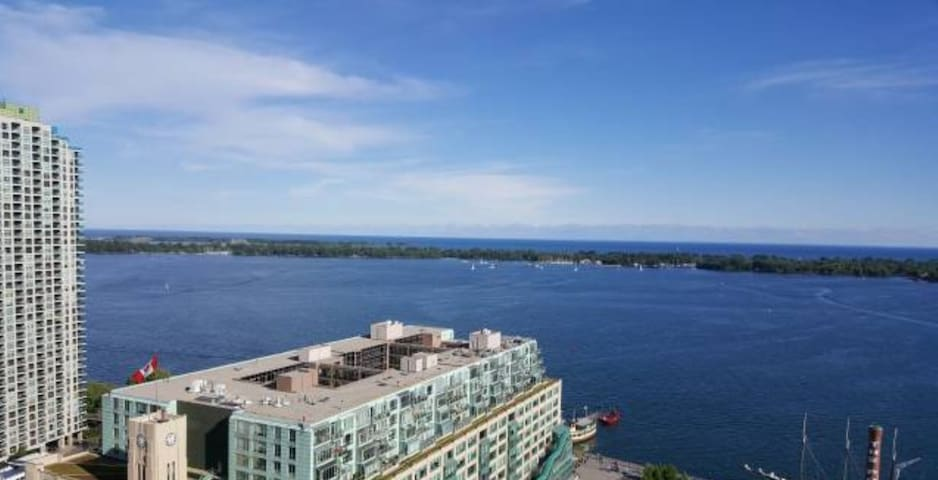 Unobstructed lake view; Designer 1 bed Suite