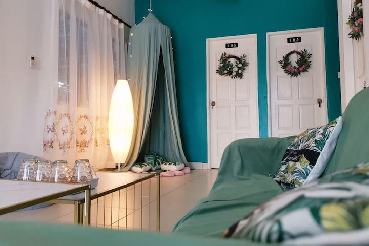 【花境民宿】仙本那花园别墅整租|7个房间可住12个人|阳光沙滩|萤火虫|含早餐