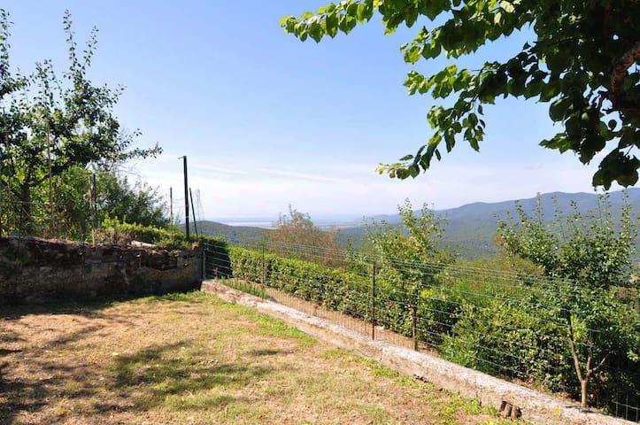 Appartamento panoramico con giardino vista mare - Vetulonia - Appartement
