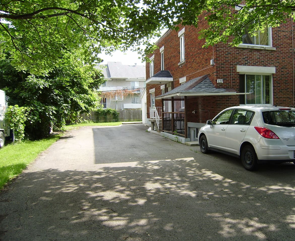 large parking & basement entrance