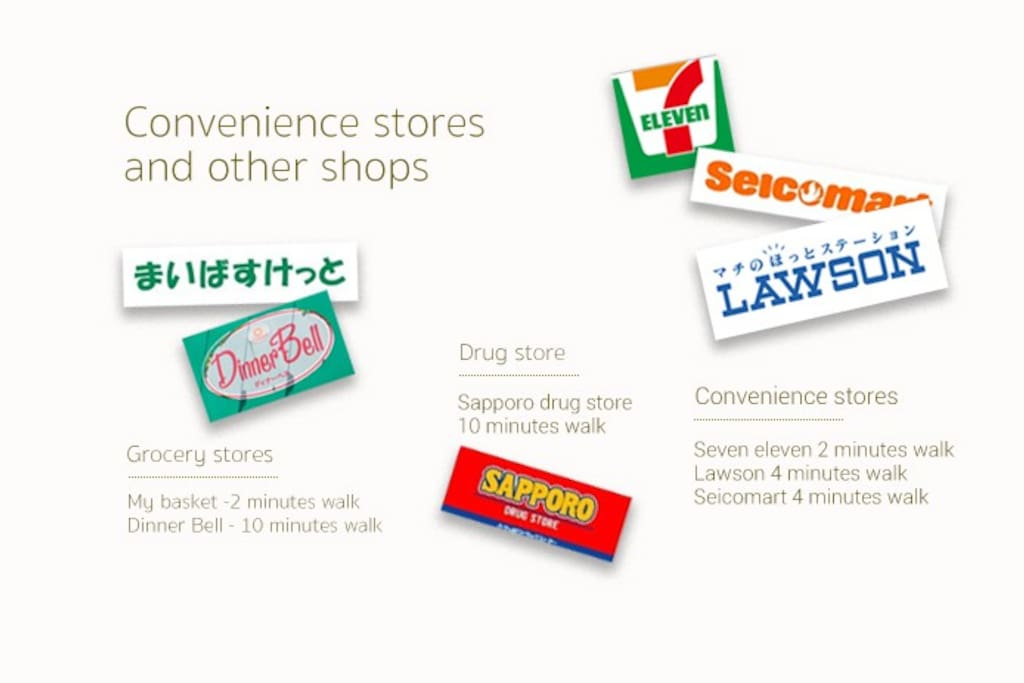 Convenience stores and other shops