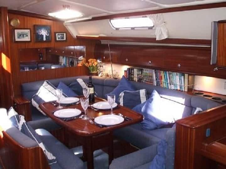 Sail yacht in Dubrovnik,Croatia