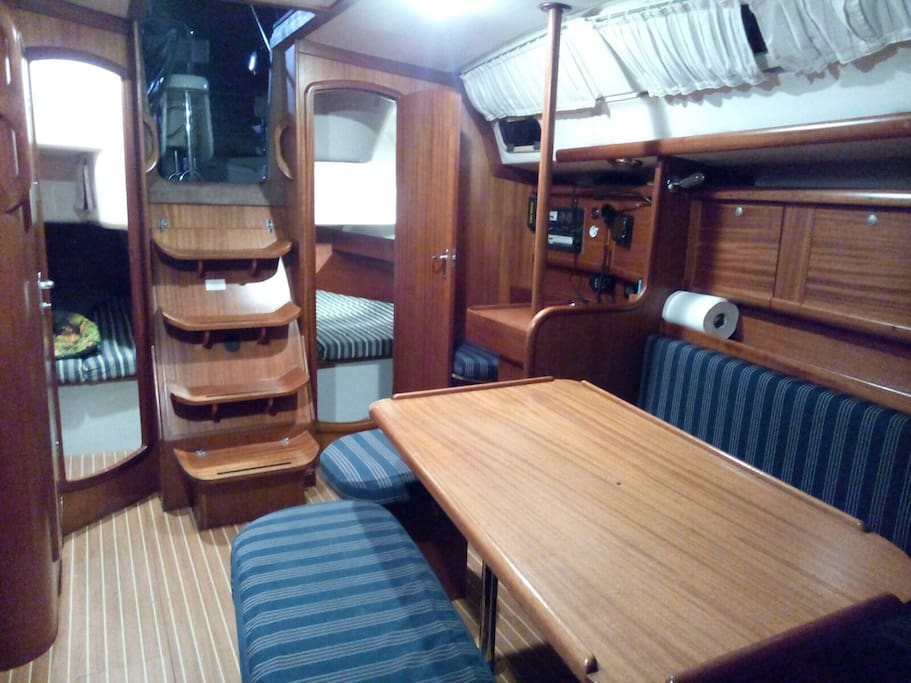 dinette and aft cabins