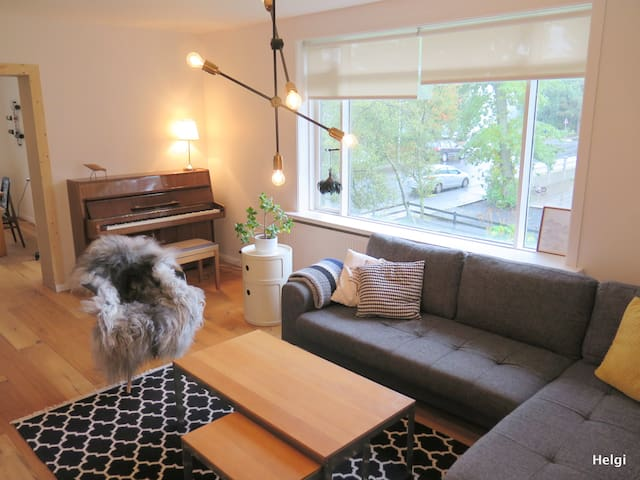 Spacious family apartment near city center - Reykjavík - Apartamento