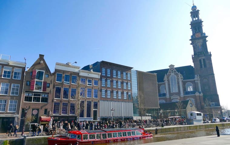 The Famous Anne Frank House Just 1 Mile From Your Studio!