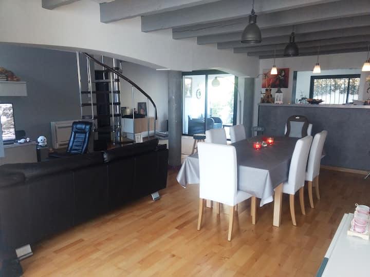 """Villa """"Le Loft"""", climatisée, 110 m2, Montpellier"""