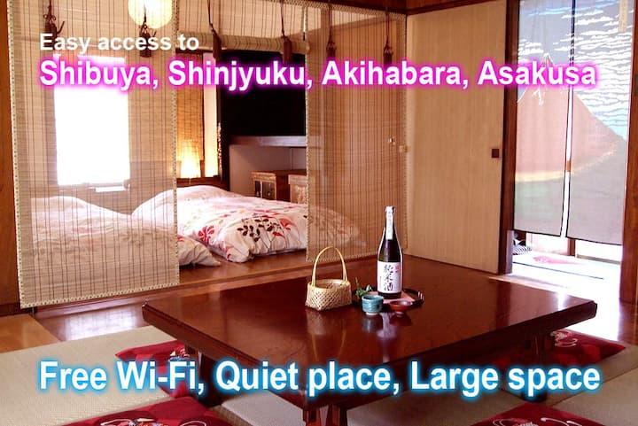 帰国者向け割引あります/Old SHOWA style house/Free Wi-fi/quiet