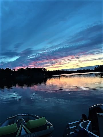 Stunning sunsets on the lake.