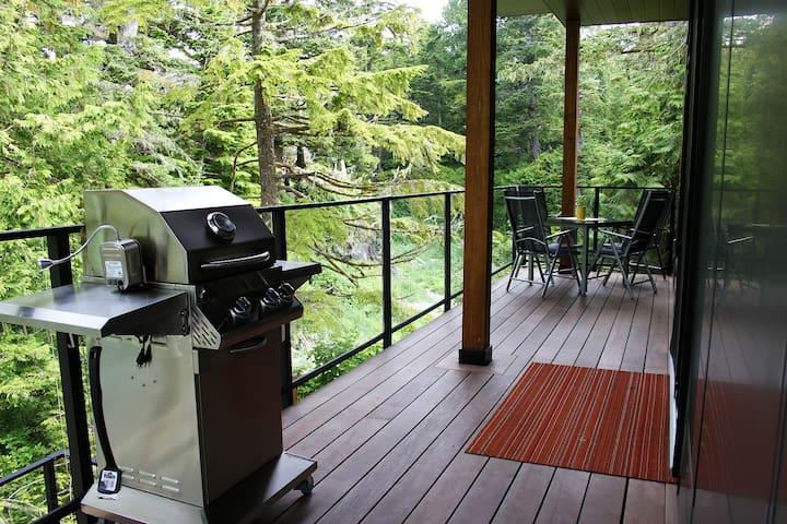 Storm Cove Suites: Beachside Terrace w/ Fireplace