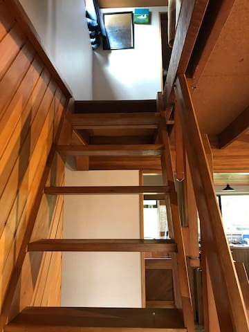 Stair to the loft bedroom