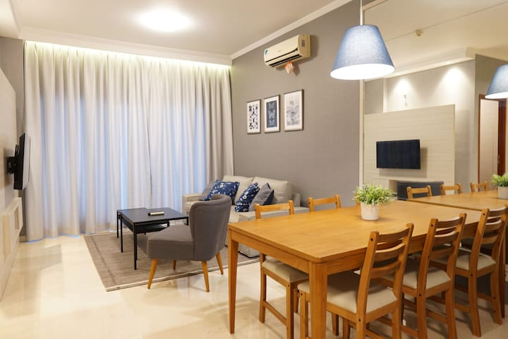 Modern Apartment POINS, South Jakarta-3min to MRT!